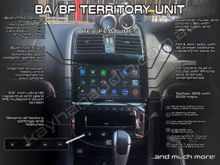 Ford BA BF Territory Android ICC Ultra HD Touchscreen 19 | Kayhan Audio