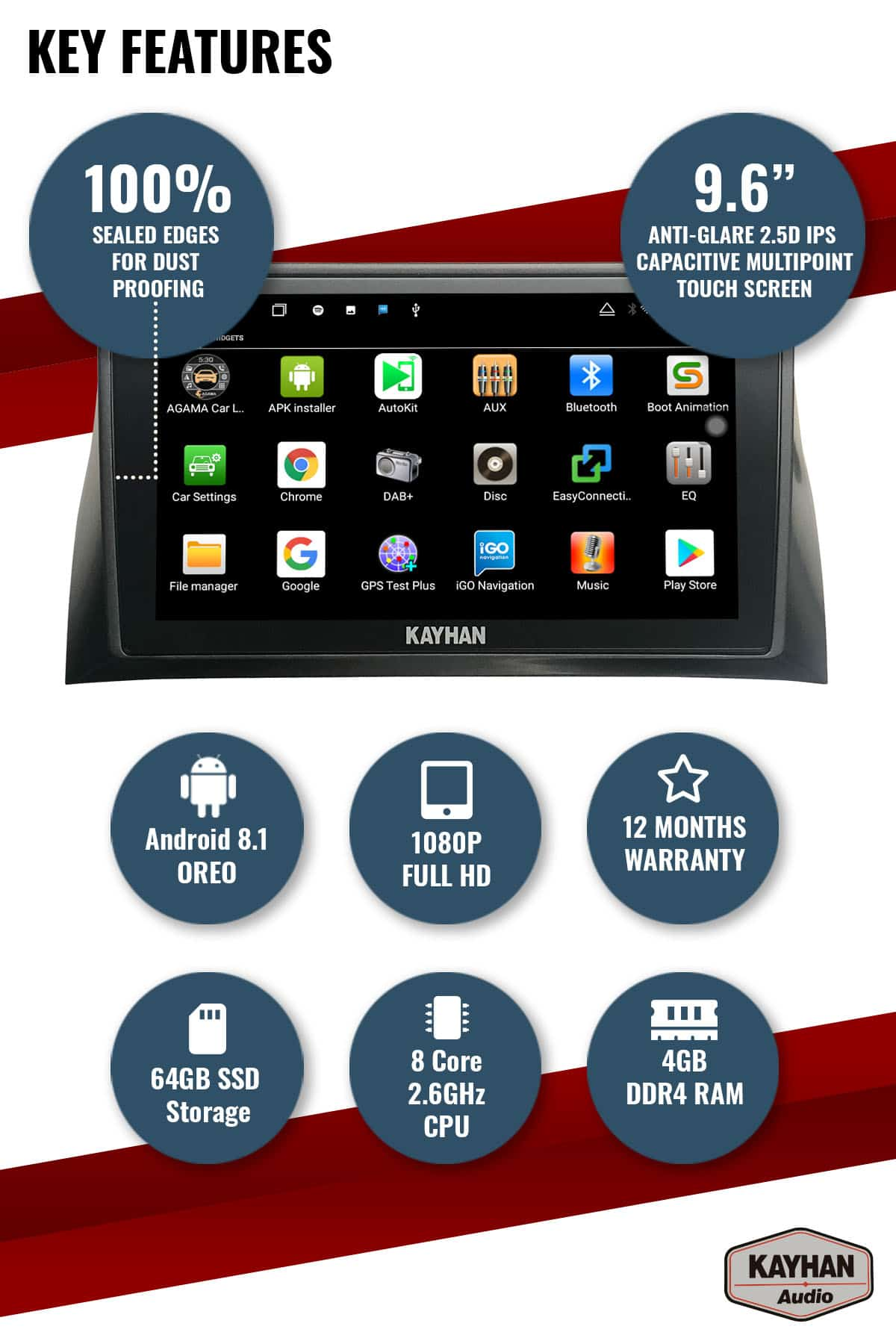 SatNav for FORD Falcon FG MKI _ 9.6″ inch VERSION III - 02 Key Features